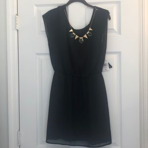 Black dress with built in necklace